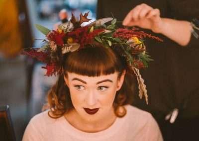 Rebel Rock wedding hair and makeup