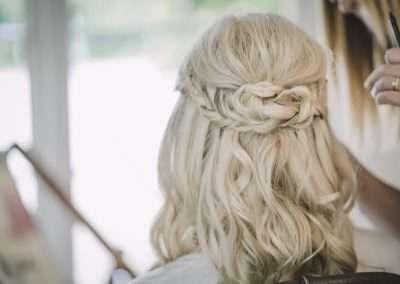 Rebel Rock wedding makeup and hair
